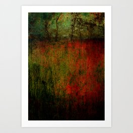 A Hesitant Calm Art Print