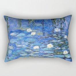 waterlilies a la Monet Rectangular Pillow