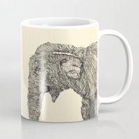 elephant Mugs featuring Elephant by Struan Teague
