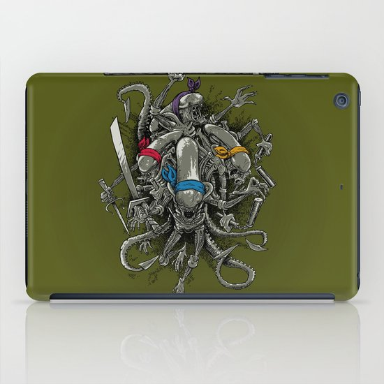 Ancient Ninja Xenomorphs iPad Case
