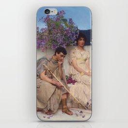 An Eloquent Silence , Lawrence Alma-Tadema, 1890 iPhone Skin