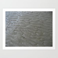 Ripples in the sand (two) Art Print
