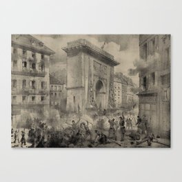 June Days Uprising 1848 Canvas Print