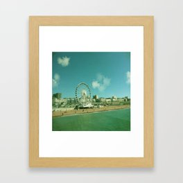 Beach Big Wheel Framed Art Print