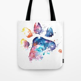Dog Paw - Watercolor Painting - Pet Art Tote Bag