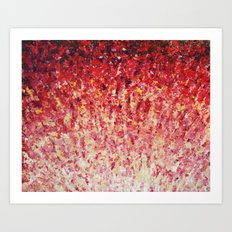HYPNOTIC SUNRISE - Stunning Sunrise Sunset Pink Magenta Peach Crimson Bright Red Cream Art Print