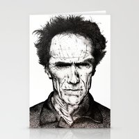 clint eastwood Stationery Cards featuring Clint Eastwood by Danielle Ross