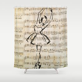music dance Shower Curtain