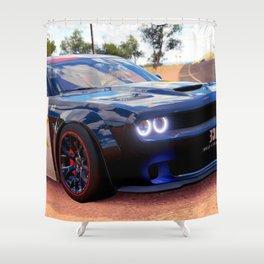 Highway Police Patrol Challenger Demon Shower Curtain