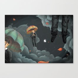 Eligible Bachelors Falling from the Sky Canvas Print