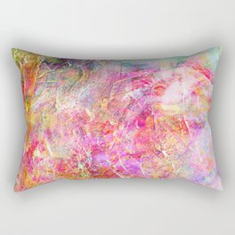 Serenity Abstract Painting Rectangular Pillow