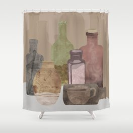 Deconstructed Coffee Shower Curtain