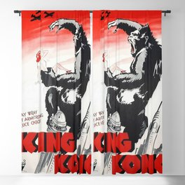 Vintage 1933 Version of RKO's King Kong Movie Cinema Poster Wall Art Blackout Curtain