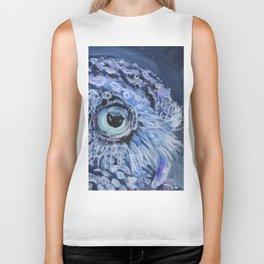 Owl At Twilight Biker Tank