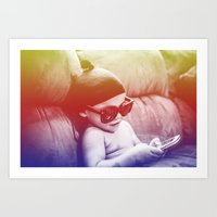 boss Art Prints featuring Boss by The Dreamaholic