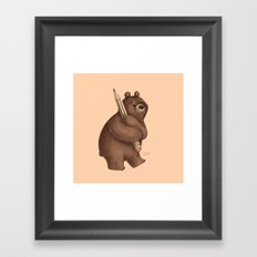The Drawing Bear Framed Art Print
