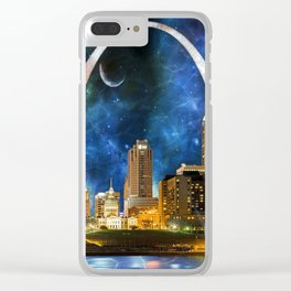 Spacey St. Louis Skyline Clear iPhone Case