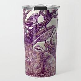 Rabbit Horns Travel Mug