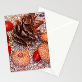 Rosa coxis in arbores autumnales Stationery Cards