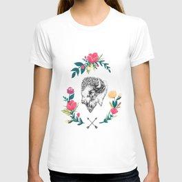 Floral Bison T-shirt