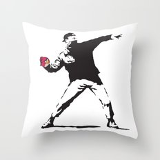 Angry Birdksy Throw Pillow