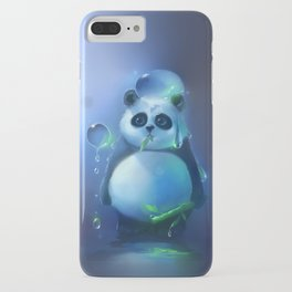 aqua panda iPhone Case