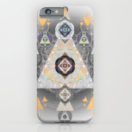 Sacred Vision Focus Mandala Print iPhone Case