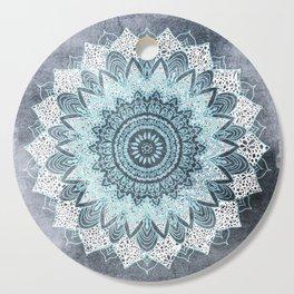 BOHOCHIC MANDALA IN BLUE Cutting Board
