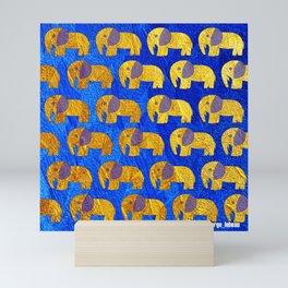 Golden elephant ecopop Mini Art Print