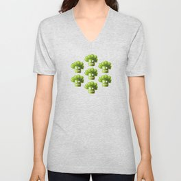 Funny Broccoli Pattern Unisex V-Neck