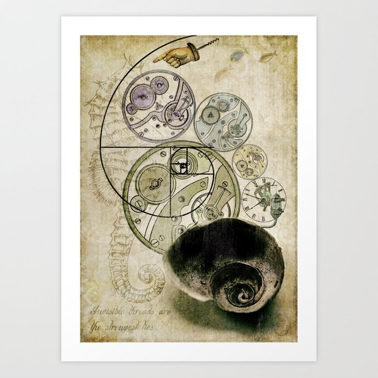 everthing's connected Art Print