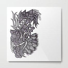 Flowers, Feathers & Flicks ! Metal Print
