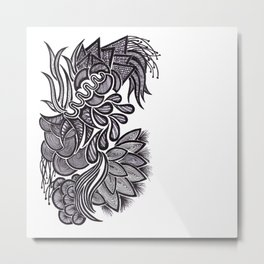 Flowers, Feathers & Flicks ! Metal Print