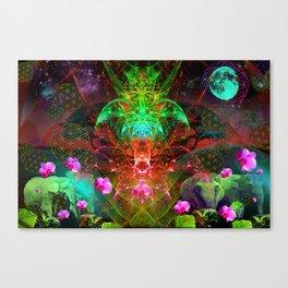 Spirit of The Crystalline Elephant Queen Canvas Print