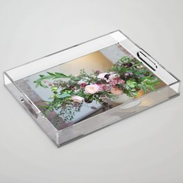 FLOWER DESIGN 10 Acrylic Tray