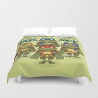 tmnt Duvet Covers featuring TMNT by Micka Design