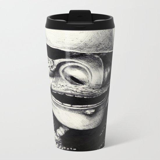 Samurai  Metal Travel Mug