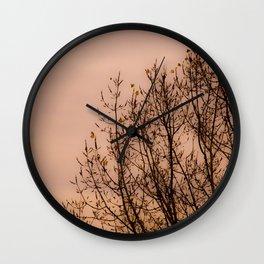 spring lilac sky Wall Clock