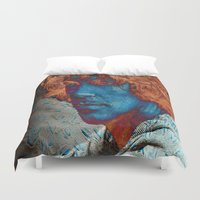 caleb troy Duvet Covers featuring Troy by Robin Curtiss
