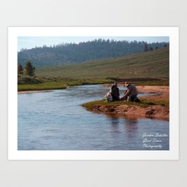 A Hikers Rest Art Print