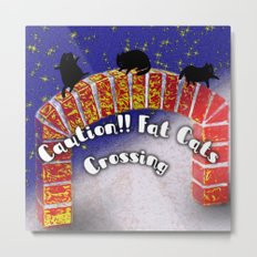 Fat Cats On the Archway Metal Print