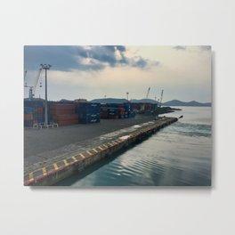 Leaving The Port In Noumea Metal Print