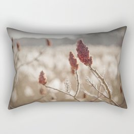 Sumac In Burnt Sienna, Namskaket River Rectangular Pillow