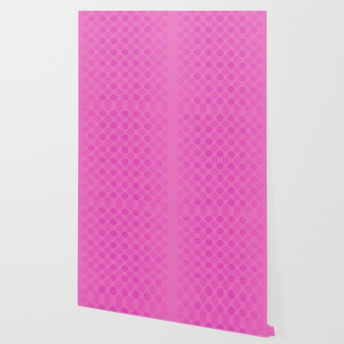 Faded pink circles pattern Wallpaper