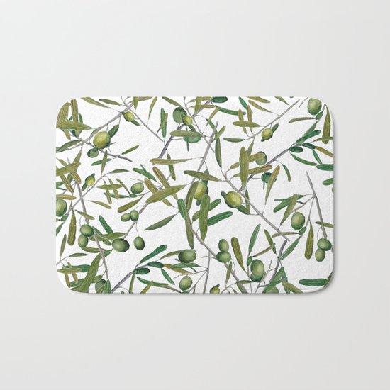 olive pattern Bath Mat