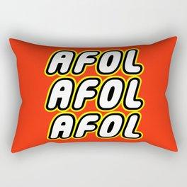 AFOL AFOL AFOL [ADULT FAN OF LEGO] in Brick Font by Chillee Wilson Rectangular Pillow