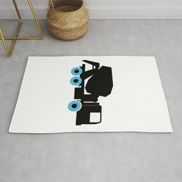 Cement Truck Icon Rug