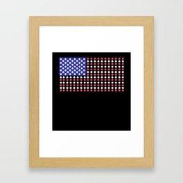 American Flag | Funny Gambling Gift Framed Art Print
