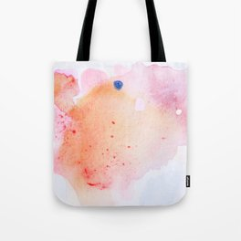 Pink Watercolor Painting Tote Bag