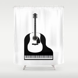 Piano and Guitar Shower Curtain